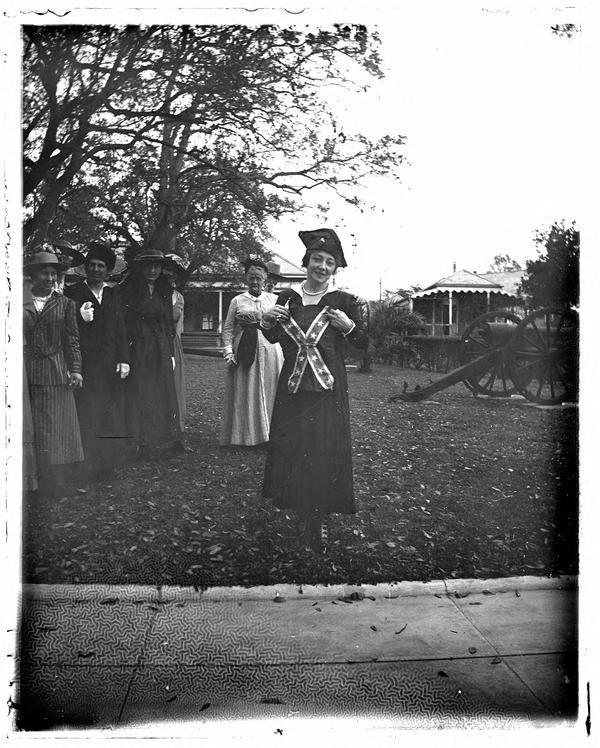 Anna Held Holding Confederate Flag | Louisiana Digital Library