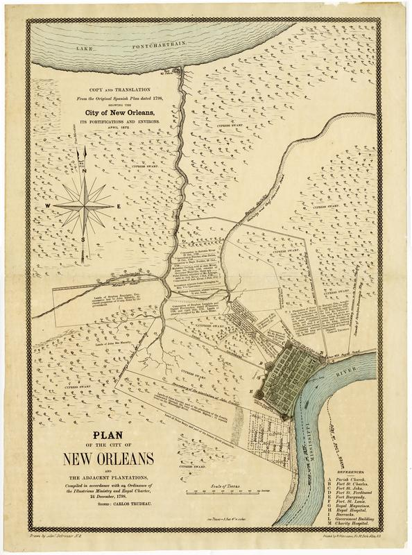 Maps From The Historic New Orleans Collection Louisiana Digital