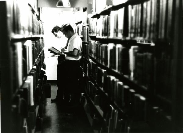 Students in Main Library, circa 1950s/60s