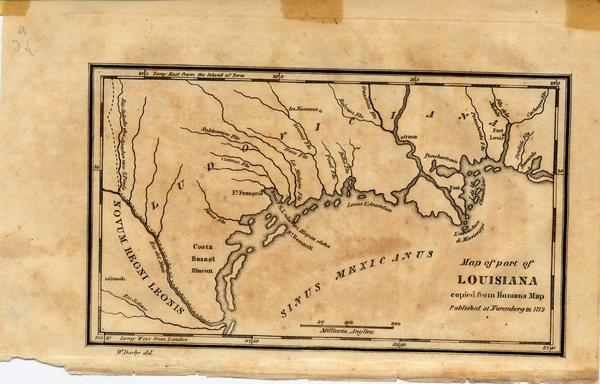 Map of part of Louisiana copied from Homan[']s Map Published ... Map All Louisiana S on michigan's map, la city map, missouri's map, indiana's map, kentucky's map, oklahoma's map, mississippi's map, nevada's map, new mexico's map, maryland's map,