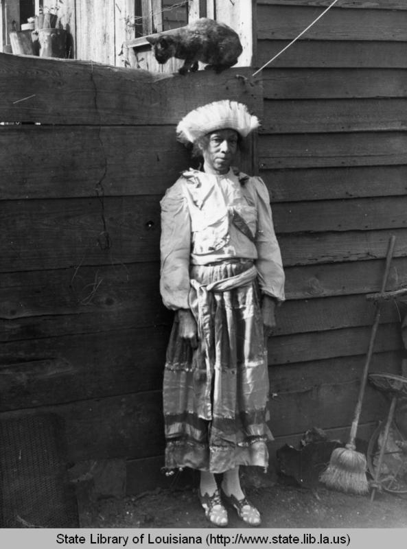 Voodoo queen Lala in New Orleans Louisiana in the 1930s