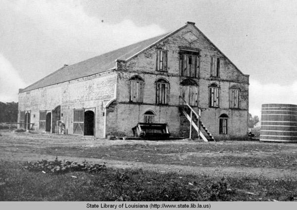 Brick barn at the Louisiana State Penitentiary in Angola