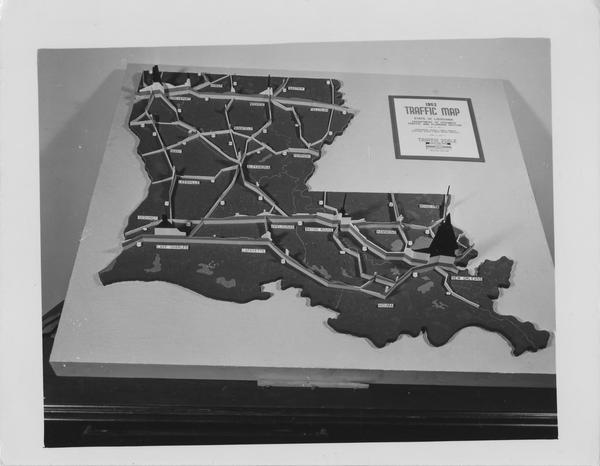 Louisiana Traffic Map.State Library Of Louisiana Historic Photograph Collection
