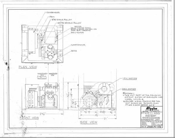 condensing unit schematic airtemp refrigeration condensing unit louisiana digital library  airtemp refrigeration condensing unit